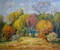 Oil painting Autumn colors Mynka Alexander Fedorovich