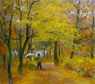 Oil painting Autumn has come Mynka Alexander Fedorovich