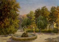 Oil painting A park Nevkrytyy Denys Nykyforovych