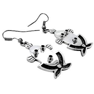 Hopi Kachina Face Sterling Silver Earrings