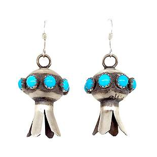 French Hook Navajo Turquoise Blossom Earrings