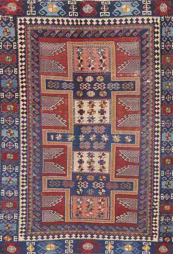 Antique Vegetable Dye Shirvan Caucasian Russian Rug
