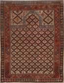 Pre-1900 Antique Vegetable Dye Shirvan Kazak Rug 4x5
