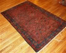 Handmade antique Persian Lilihan rug 4.1' x 6.4' (