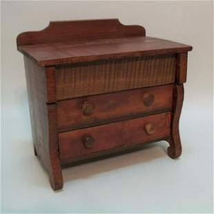 Small Three Drawer Empire Style Chest