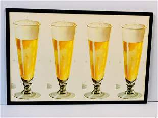 c. 1940 Beer in a Glass Diecut