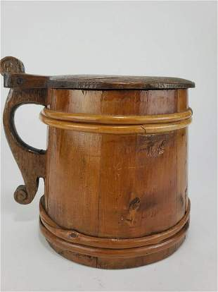Staved Wooden Ale Tankard