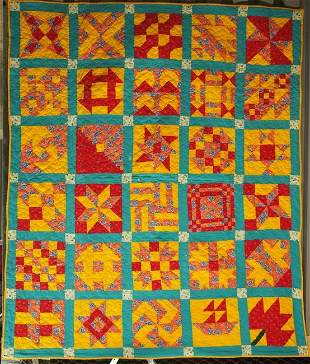 SAMPLER ANTIQUE QUILT in 30 BLOCKS
