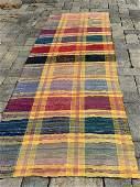 Spectacular early 20th c Rag Carpet