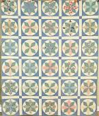 30's Stars Quilt, Unusual Circle Design