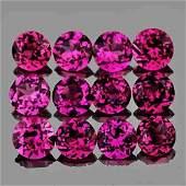 300 mm Round 12 pcs Natural Pinkish Purple Rhodolite