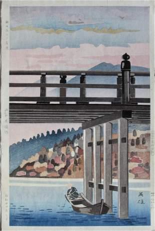Hideo Nishiyama: Sunset Glow at Ishiyama