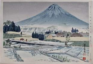 Tokuriki: Thirty-six Views of Fuji, Rain at Kirbe
