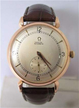 Vintage 80MC 18k Rose OMEGA Automatic Watch 1950s