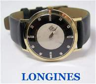 Vintage 14k LONGINES MYSTERY DIAL Mens Winding Watch
