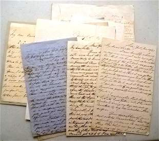 Group on 19th C Letters Lord Coville Others