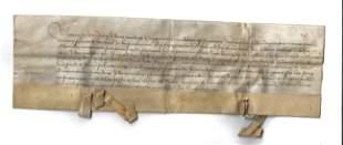 1429 Medieval Vellum Legal Manuscript Leuven