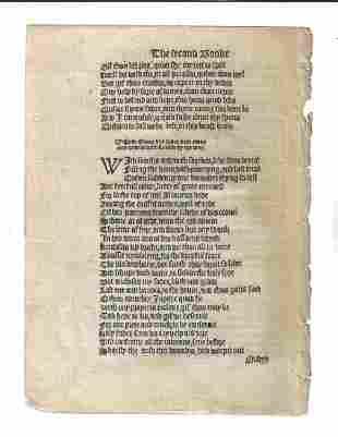 1553 English Leaf from the Aeneid Gavin Douglas