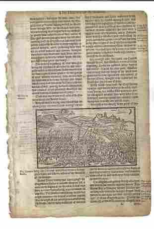 1577 Leaf Holinshed Scotland William Wallace
