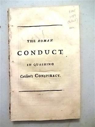 1715 The Roman Conduct Quashing Catiline's Conspiracy