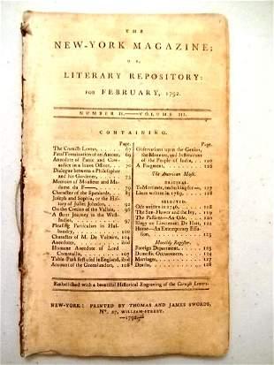 1792 New York Magazine West Indies Greenland India