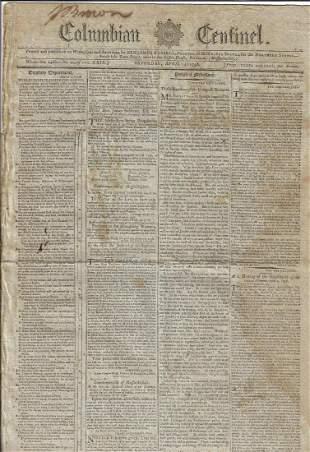 1798 Boston Newspaper Politics Adams