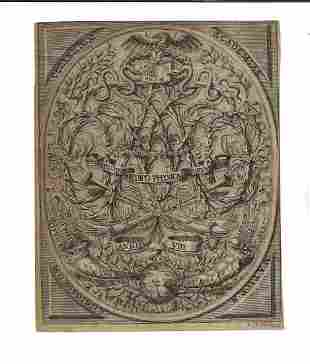 17th C Engraved Title Medico Physical Curiosities