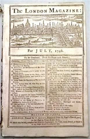 1746 London Magazine Scot Rebellion America
