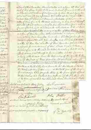 1766 English Release Numerous Signatures Essex