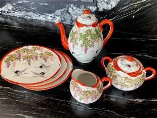 Antique Handpainted Japanease tea set