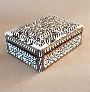 MC Mother of Pearl Inlaid Jewelry Box