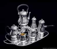 PUIFORCAT - 8pc. LOUIS XVI STERLING SILVER TEA / COFFEE