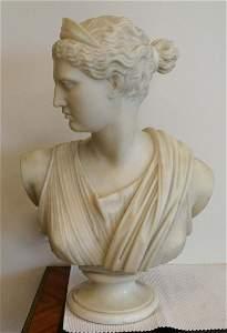 "Italian marble bust ""Diana"" 19th century"
