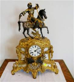 France bronze gilded clock with arab early 19th century