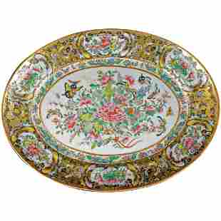 Chinese Qing/Republic 1000 Butterfly Platter