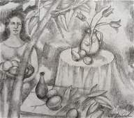Pencil painting Sweet table Peter Tovpev