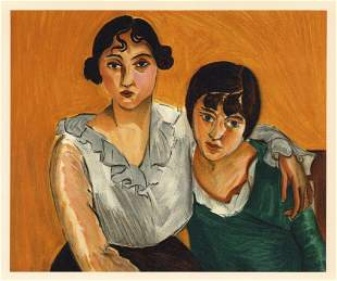 "Henri Matisse lithograph ""The Two Sisters"""