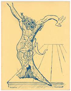 "Max Ernst ""Elektra"" original lithograph, 1939 first"