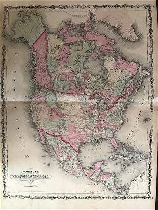 1861 North America. By Johnson