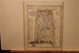 1851 Map of Alabama