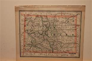 1886 Map of Colorado