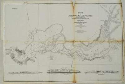 1850 Sacramento and San Joaquin Rivers Chart -- Chart