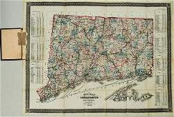 1886 Tilden Map of Connecticut -- New Map of