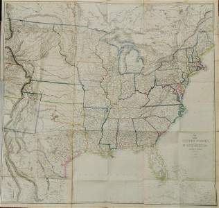 1860 Ettling Map of United States -- United States of