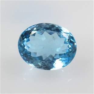 11.77 Ct Natural Blue Topaz Oval Cut