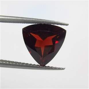 3.22 Ct Natural Rhodolite Garnet Trillion Cut