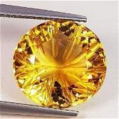 Natural Citrine Oval Flower Cut 10.90 ct