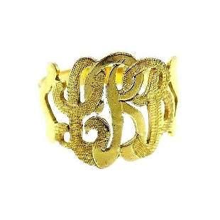 14k Yellow Gold Victorian Filigree Ring