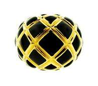 TIMELESS David Webb 18k Yellow Gold & Enamel Ring!