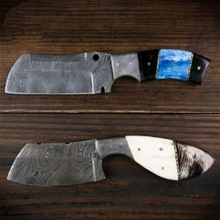 2pc SET Sharp damascus steel knife knives hunting